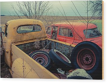Wood Print featuring the photograph The Once Useful by Brian Bonham