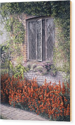 Wood Print featuring the painting The Open Window by Rosemary Colyer