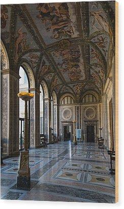 The Opulent Loggia In Villa Farnesina Rome Italy - 1 Wood Print by Georgia Mizuleva