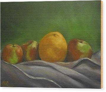 The Orange Wood Print