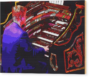 The Organ Player Wood Print