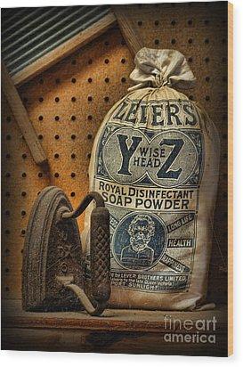 The Original Laundromat - Self-service Soap Powder Wood Print by Lee Dos Santos