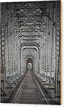 Wood Print featuring the photograph The Other Side  by Barbara Chichester