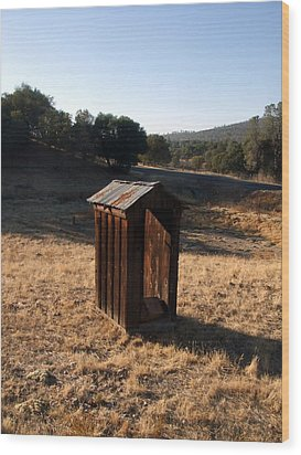 Wood Print featuring the photograph The Outhouse by Richard Reeve