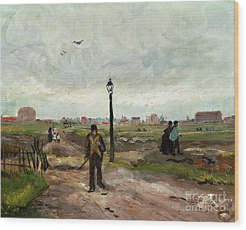 The Outskirts Of Paris Wood Print by Vincent van Gogh