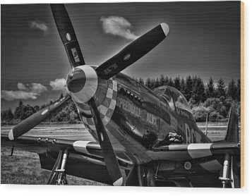 The P-51 Speedball Alice Mustang Wood Print by David Patterson