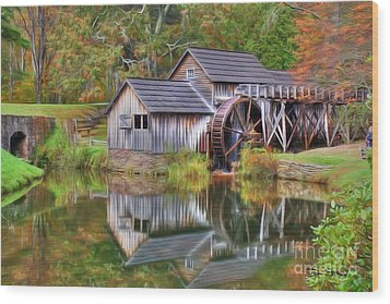 The Painted Mill Wood Print