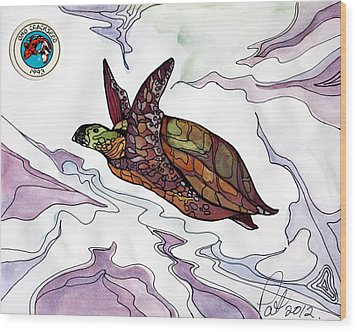 The Painted Turtle Wood Print