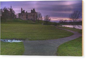 The Palace At Dusk Wood Print