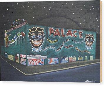 The Palace At Night Wood Print