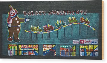 The Palace Clown At Night Wood Print by Patricia Arroyo