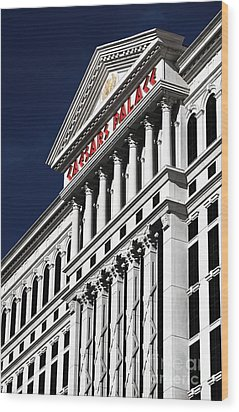 The Palace Of Caesar Wood Print by John Rizzuto