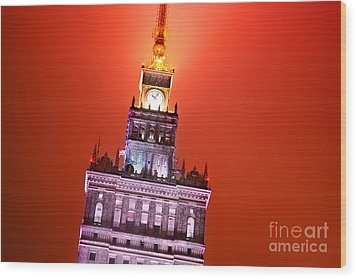 The Palace Of Culture And Science Warsaw Poland  Wood Print by Michal Bednarek