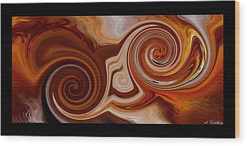 Wood Print featuring the digital art The Palace Wall by Roy Erickson