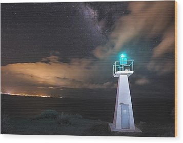 The Pali Lighthouse Wood Print by Hawaii  Fine Art Photography