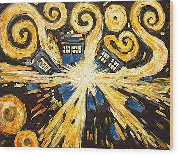The Pandorica Opens Wood Print by Sheep McTavish