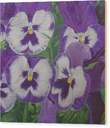 The Pansy Brothers Wood Print by Harvey Rogosin