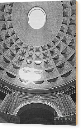 The Pantheon - Rome - Italy Wood Print by Luciano Mortula