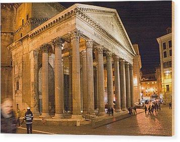 The Pantheon Wood Print