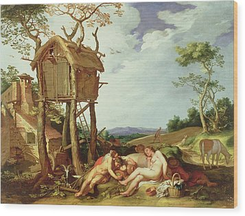 The Parable Of The Wheat And The Tares Wood Print by Abraham Bloemaert