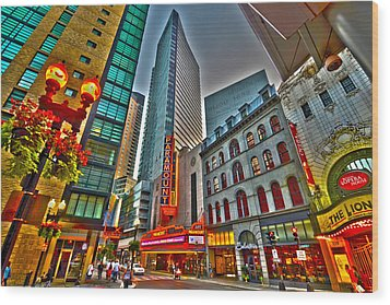 The Paramount Center And Opera House In Boston Wood Print