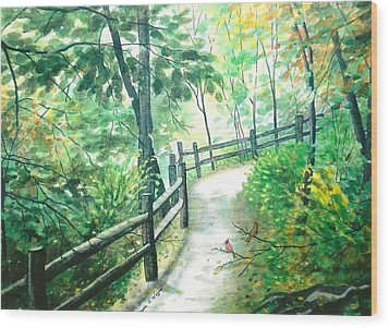 The Park Trail - Mill Creek Park Wood Print