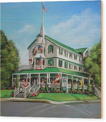 The Parker House Wood Print by Melinda Saminski