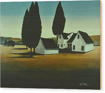 The Parson's House Wood Print