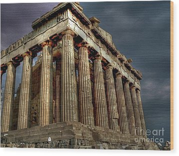 The Parthenon Wood Print by David Bearden