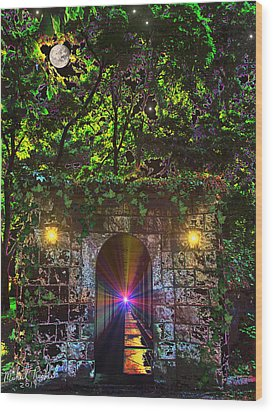 The Passageway  Wood Print by Michael Rucker