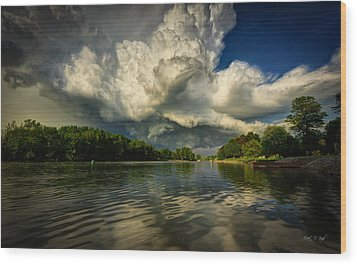 The Passing Storm Wood Print by Everet Regal