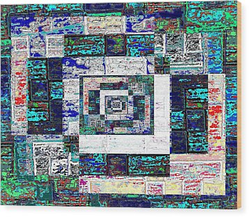 The Patchwork Wood Print by Tim Allen