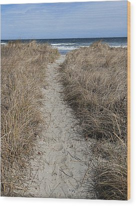 The Path Wood Print by Glenn DiPaola