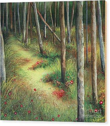 The Path Less Traveled Wood Print
