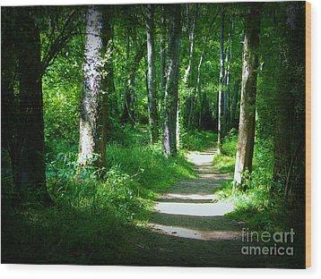 The Path Wood Print by Lorraine Heath