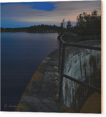 The Path Narrows Wood Print by Gregory Israelson