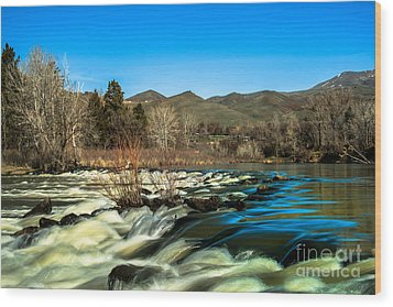 The Payette River Wood Print by Robert Bales
