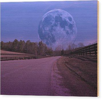 The Peace Moon  Wood Print by Betsy Knapp