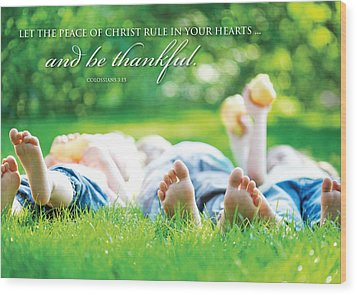 The Peace Of Christ Wood Print