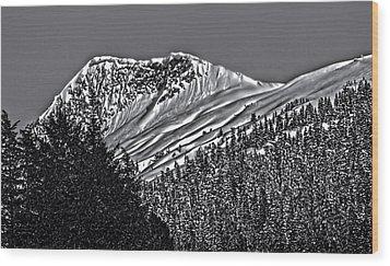 The Peak 3813007 Wood Print by Timothy Latta