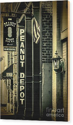 The Peanut Depot Wood Print