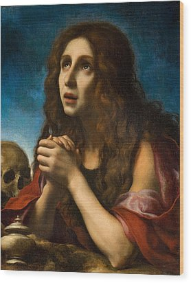 The Penitent Magdalen Wood Print by Carlo Dolci