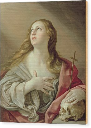 The Penitent Magdalene Wood Print by Guido Reni