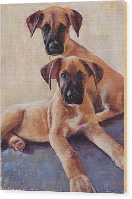 The Perfect Pair Wood Print by Billie Colson