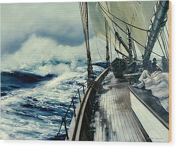 The Perfect Storm Wood Print by Michael Swanson