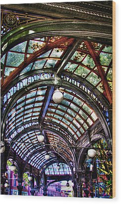 The Pergola Ceiling In Pioneer Square Wood Print by David Patterson