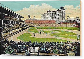 The Phillies Baker Bowl In Philadelphia Pa In 1914 Wood Print by Dwight Goss