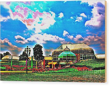 The Phipps Conservatory Wood Print