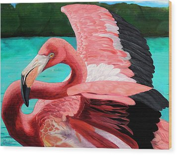 The Phoenix Wood Print by Maritza Tynes