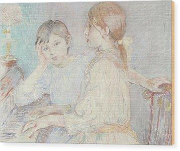 The Piano Wood Print by Berthe Morisot